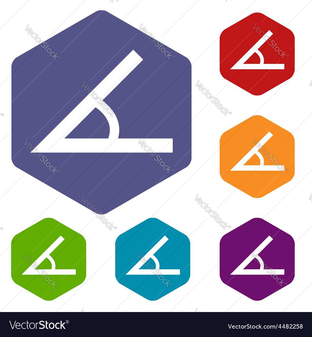 Sign of the angle rhombus icons vector | Price: 1 Credit (USD $1)