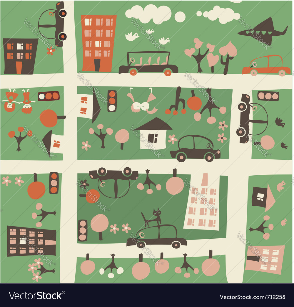 Town birdseye vector | Price: 1 Credit (USD $1)