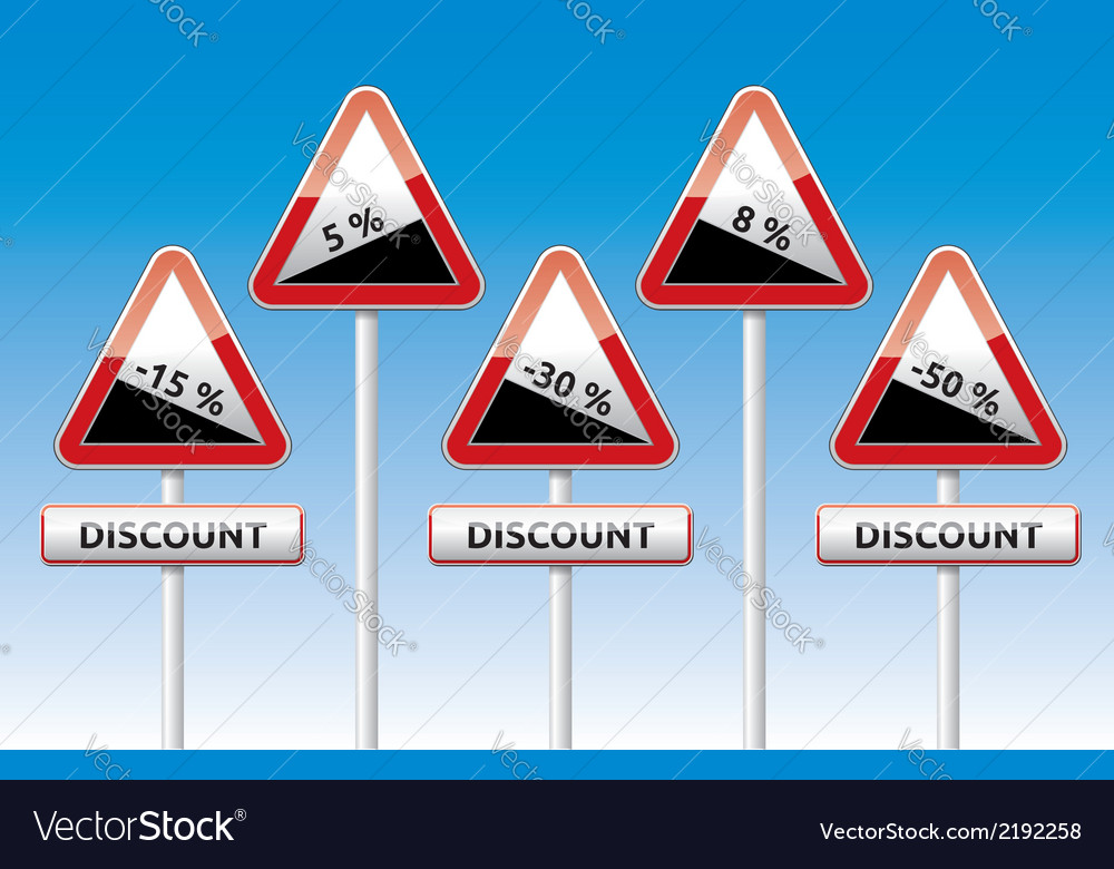 Traffic board sale discount slope vector | Price: 1 Credit (USD $1)