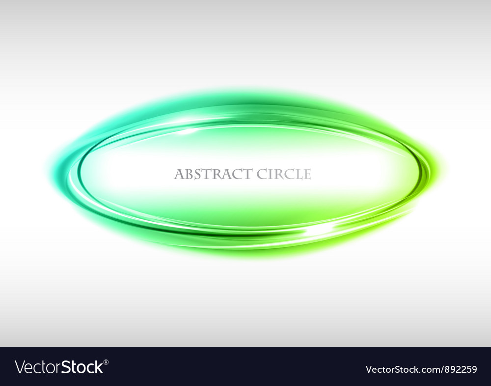 Abstract circle on white green vector | Price: 1 Credit (USD $1)