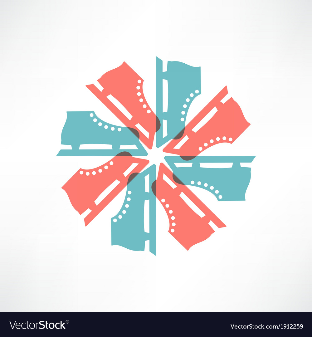 Colored circle of skates vector | Price: 1 Credit (USD $1)