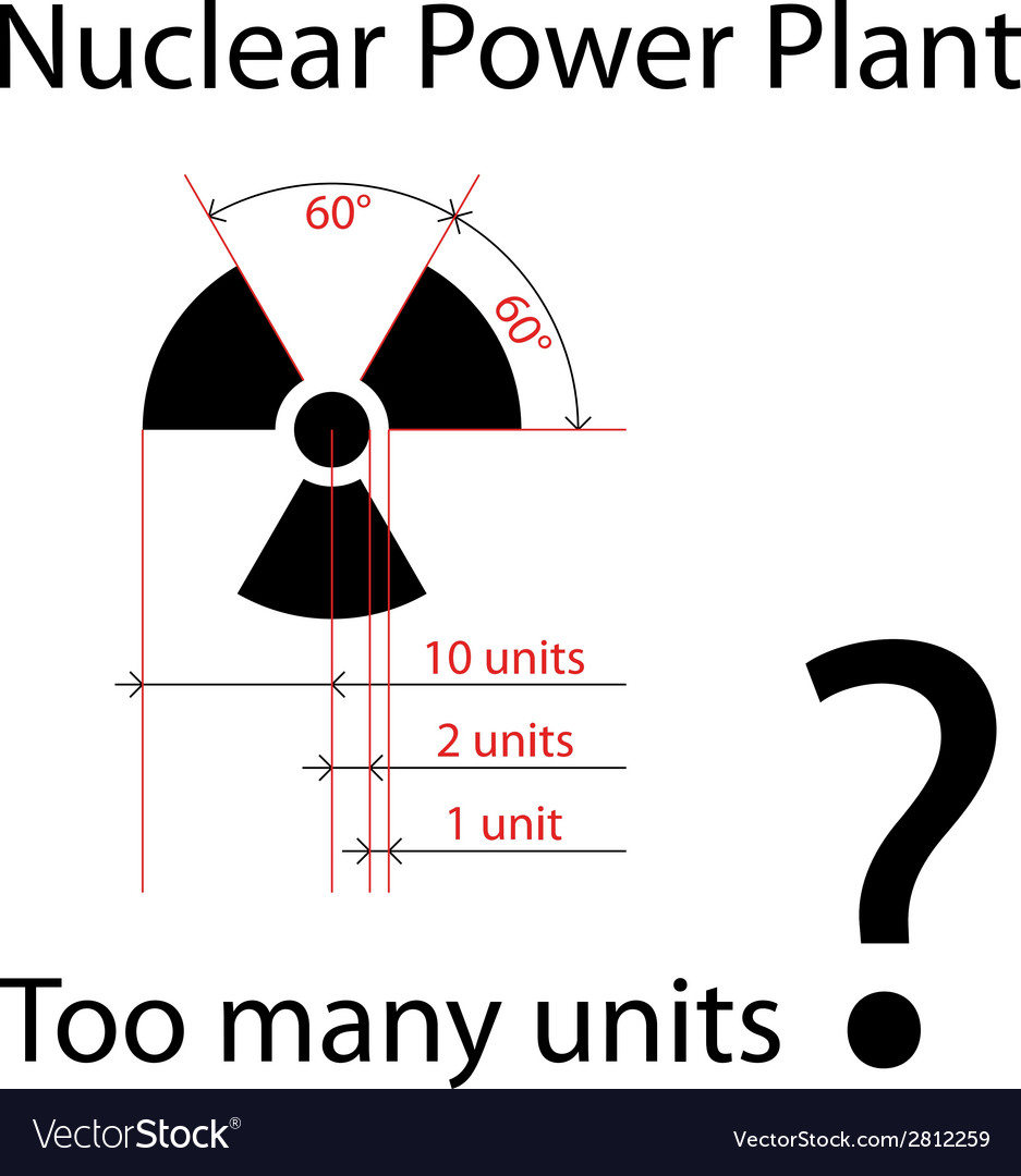 Dimensionally precise radiation symbol vector | Price: 1 Credit (USD $1)