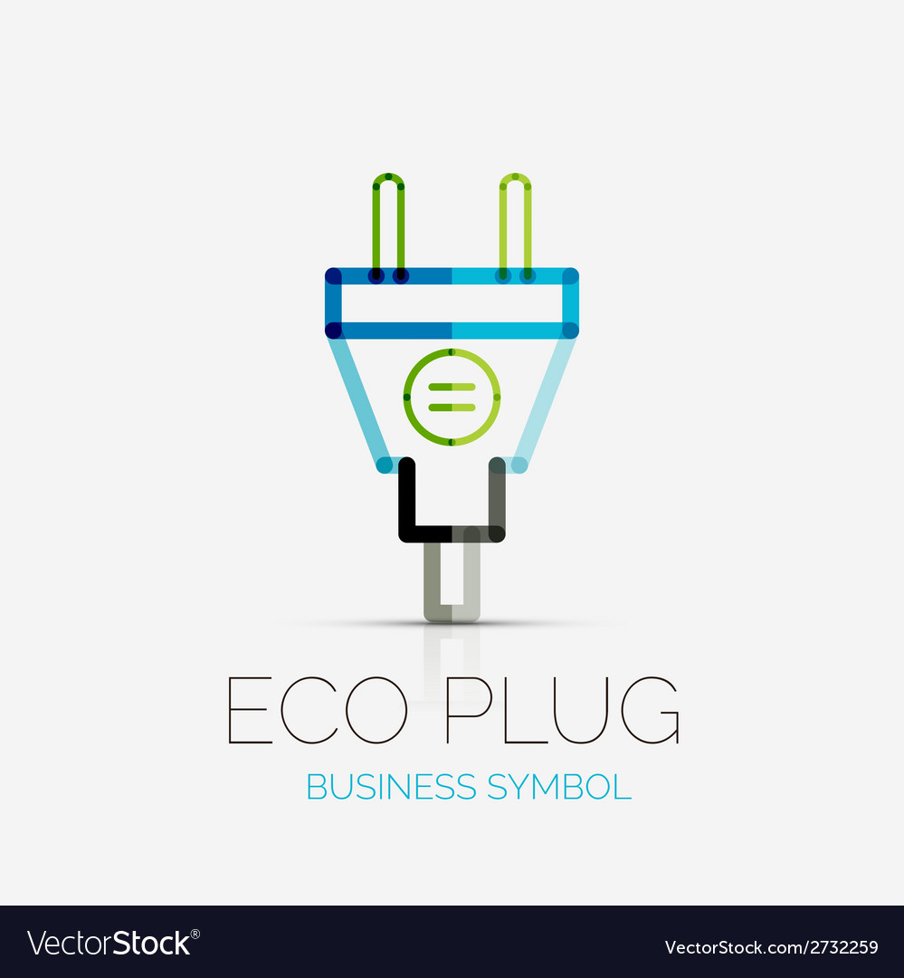 Eco plug company logo business concept vector | Price: 1 Credit (USD $1)