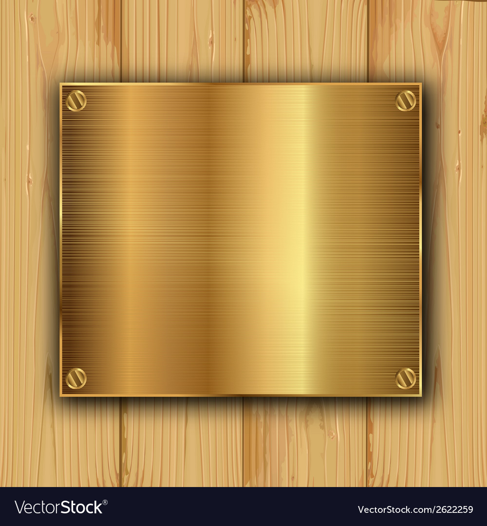 Gold on a wood vector | Price: 1 Credit (USD $1)