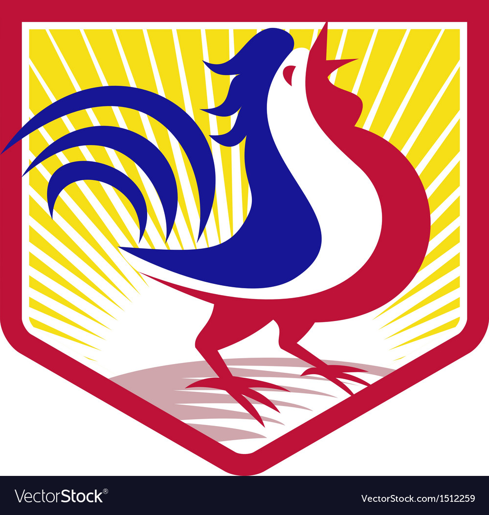 Rooster cockerel crowing crest vector | Price: 1 Credit (USD $1)