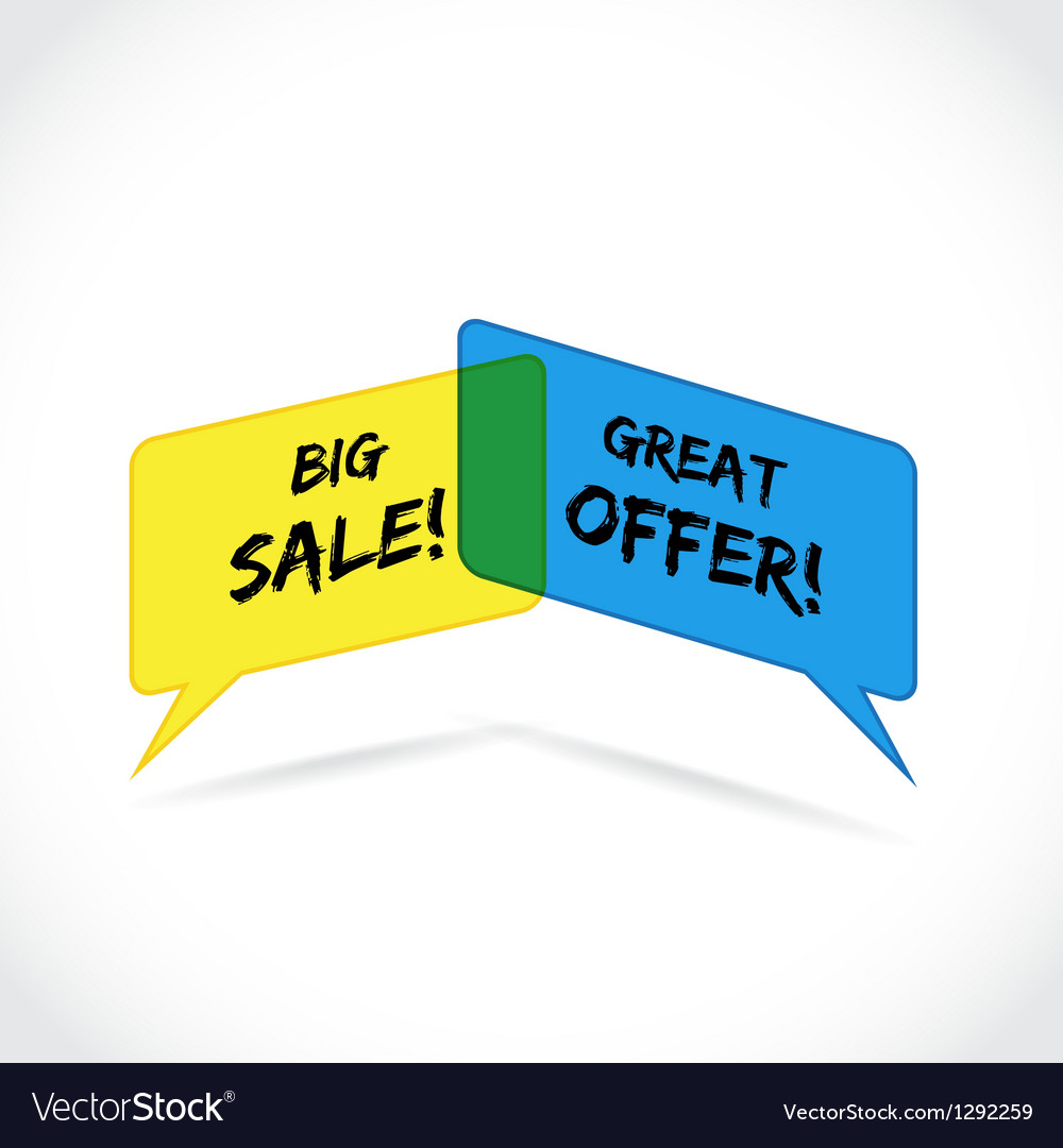 Sales offer vector | Price: 1 Credit (USD $1)