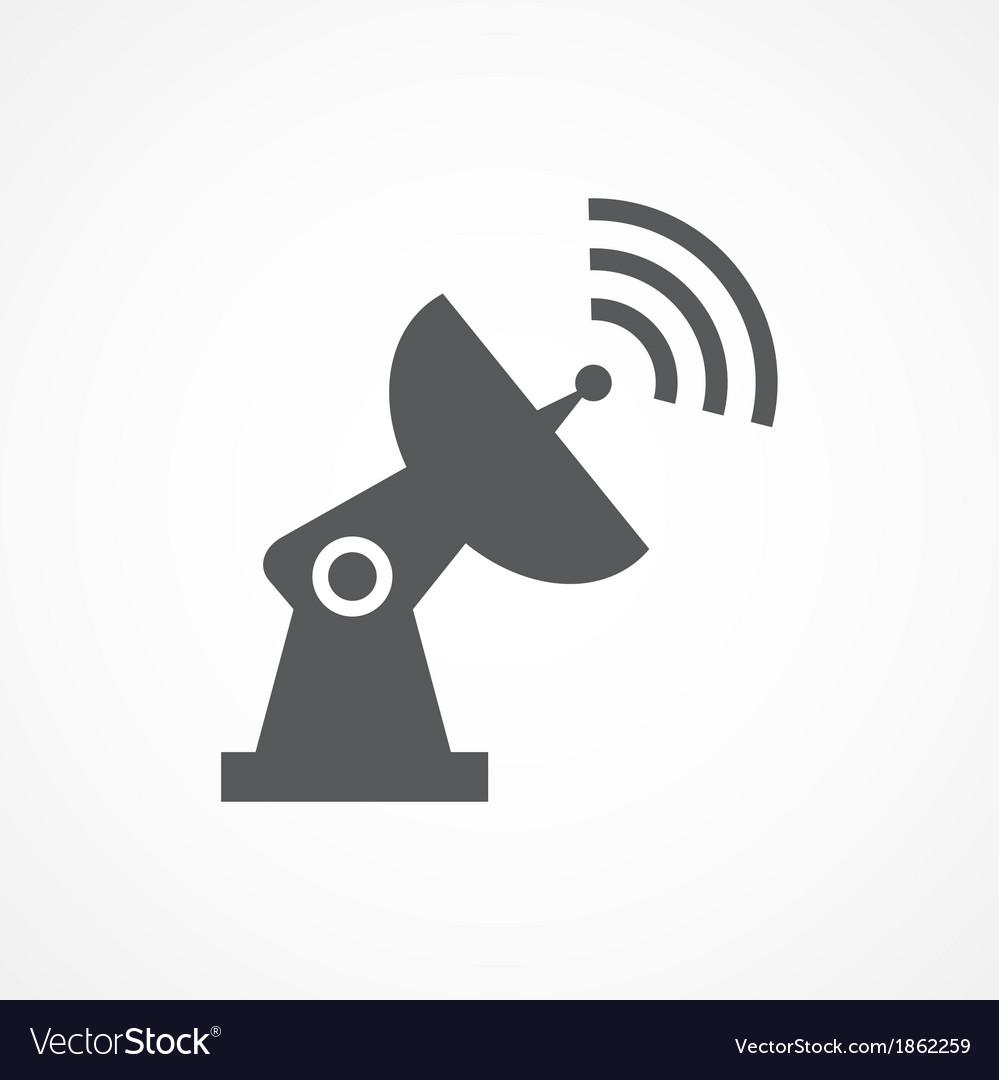 Satellite dish icon vector | Price: 1 Credit (USD $1)