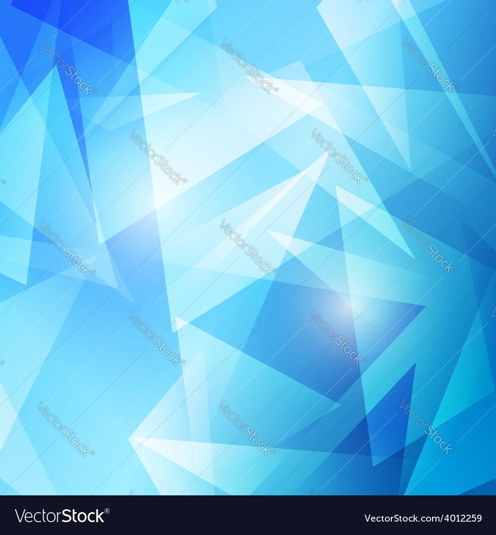 Triangles abstract blue modern background vector | Price: 1 Credit (USD $1)