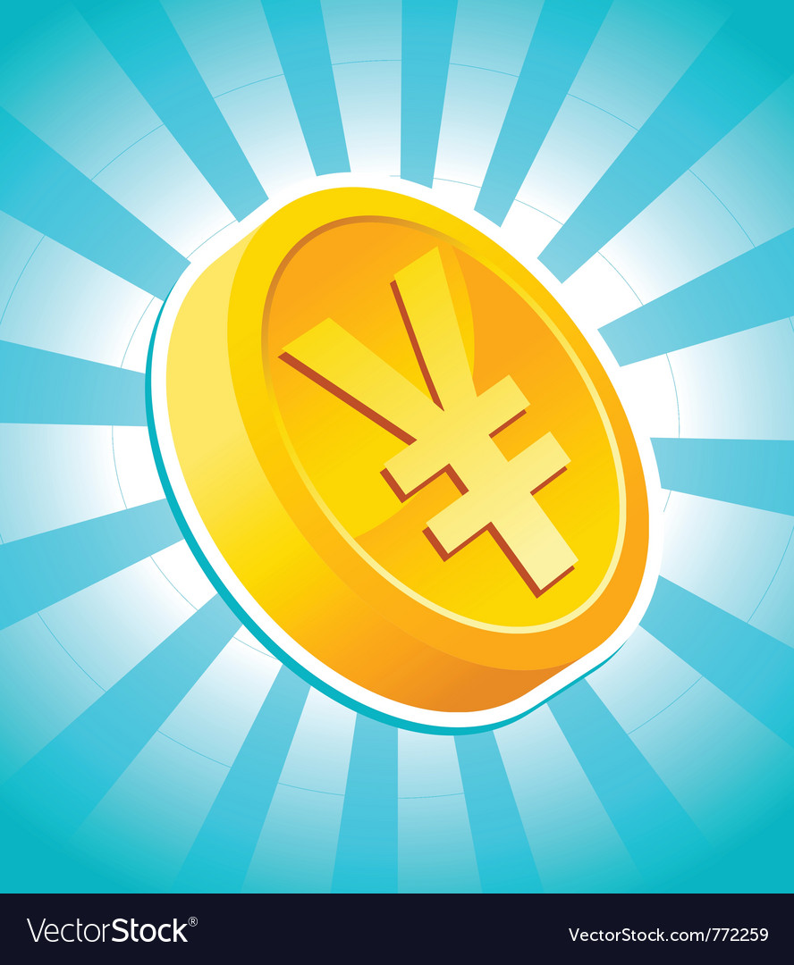 Yen gold coin vector | Price: 1 Credit (USD $1)