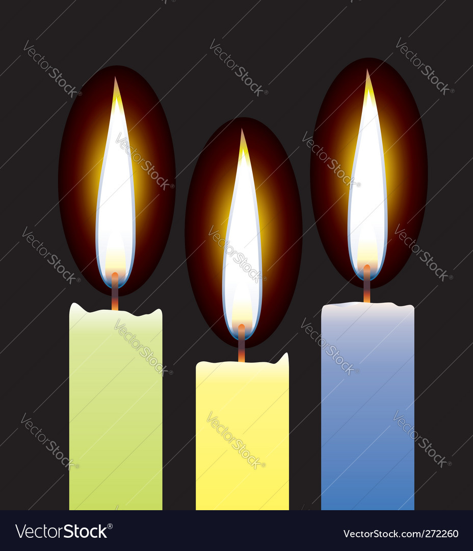 3 candles vector | Price: 1 Credit (USD $1)