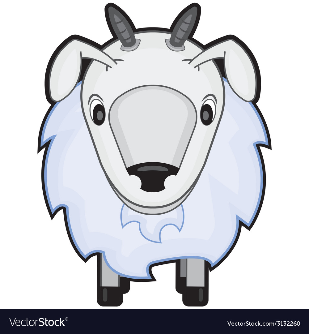 Children cartoon of a sheep vector | Price: 1 Credit (USD $1)