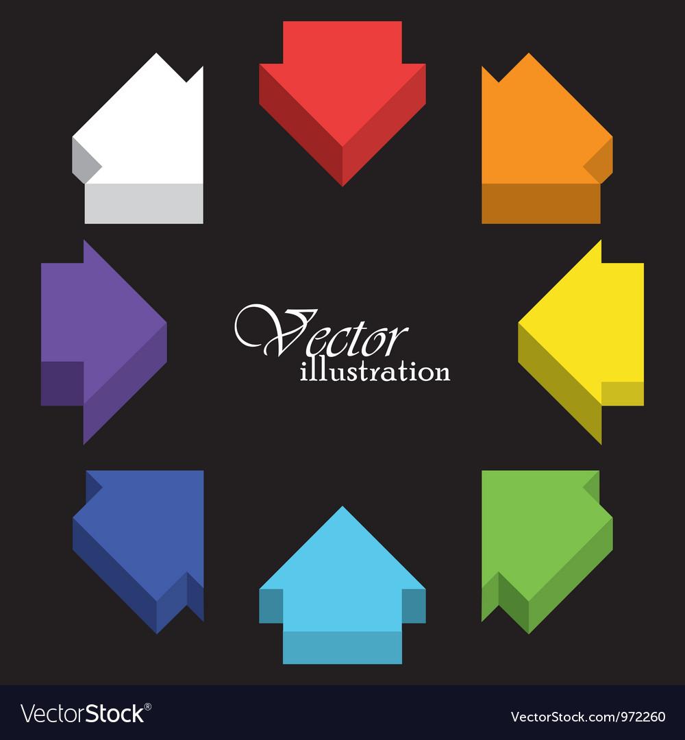 Colored arrows vector   Price: 1 Credit (USD $1)