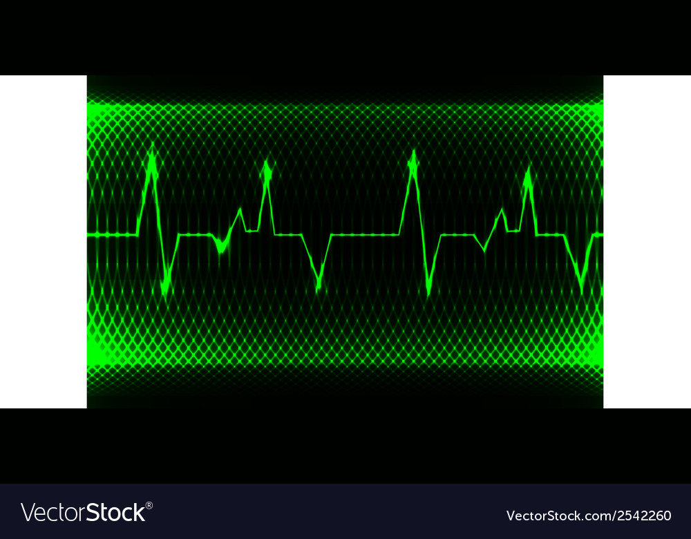 Colorful human heart normal sinus rhythm vector | Price: 1 Credit (USD $1)