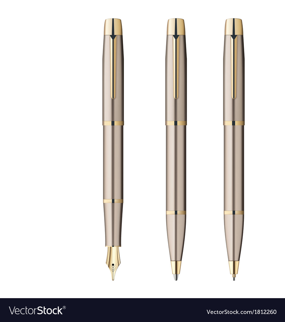 Fountain pen ball pen pencil vector | Price: 1 Credit (USD $1)