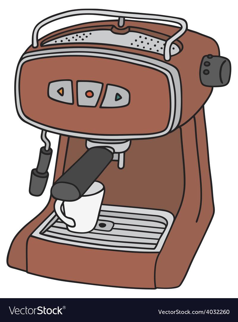 Red electric espresso maker vector | Price: 1 Credit (USD $1)