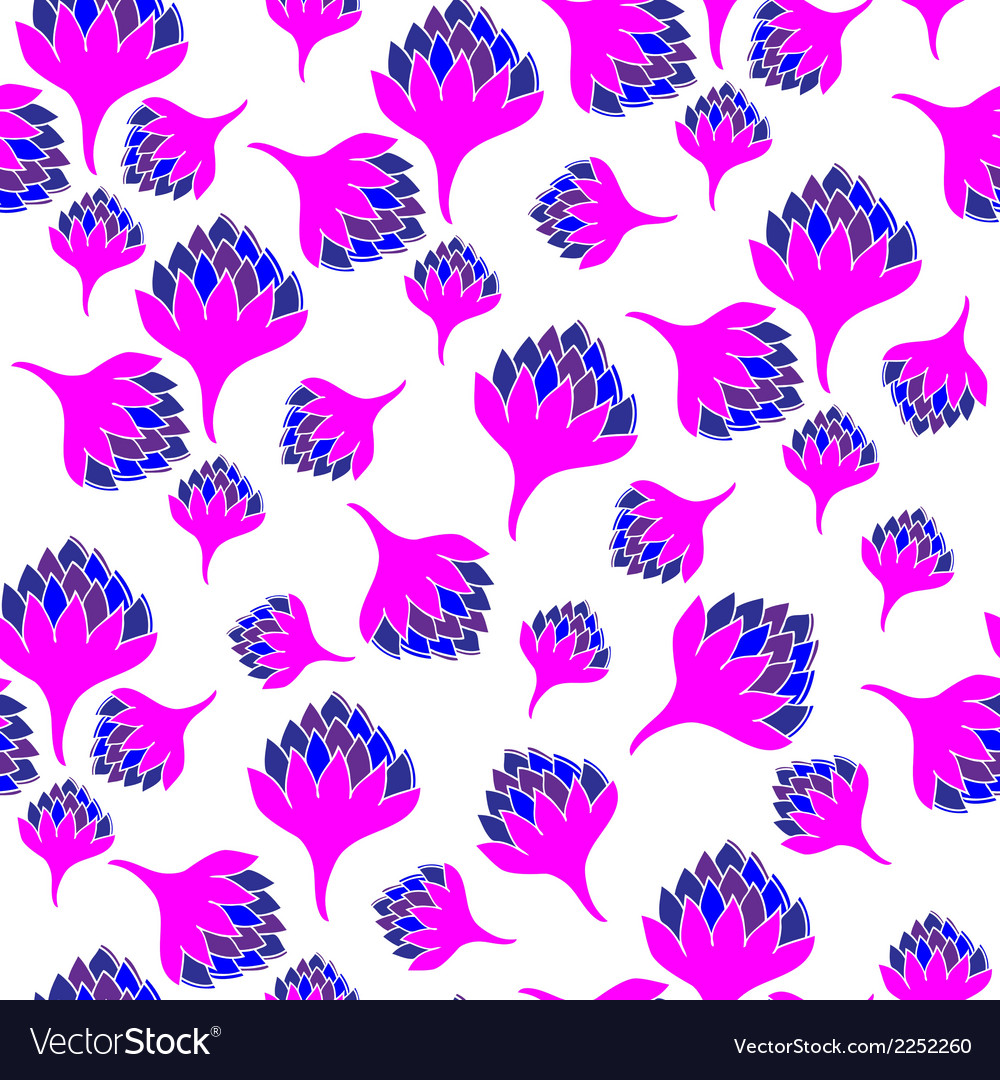 Seamless pattern with bright flowers vector | Price: 1 Credit (USD $1)