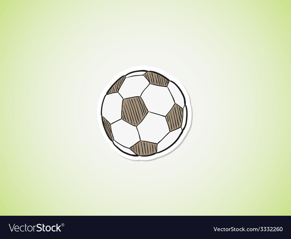 Sketch of the football ball vector | Price: 1 Credit (USD $1)