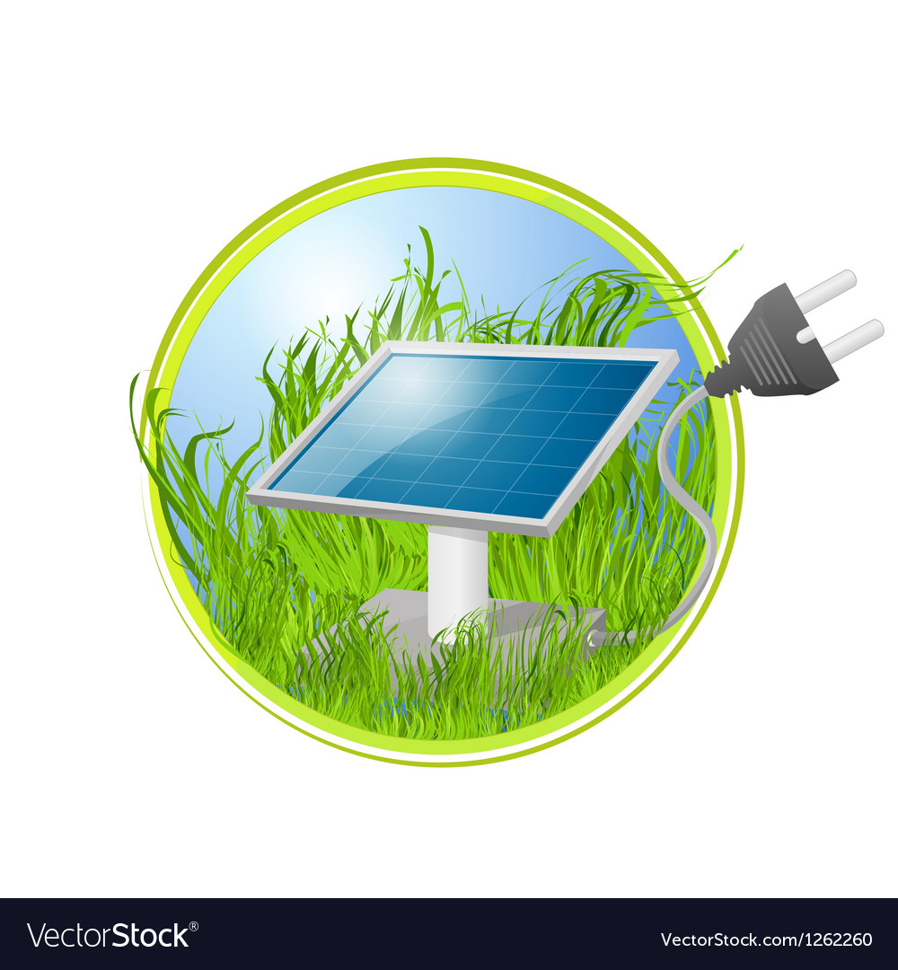 Solar green panel logo vector | Price: 1 Credit (USD $1)