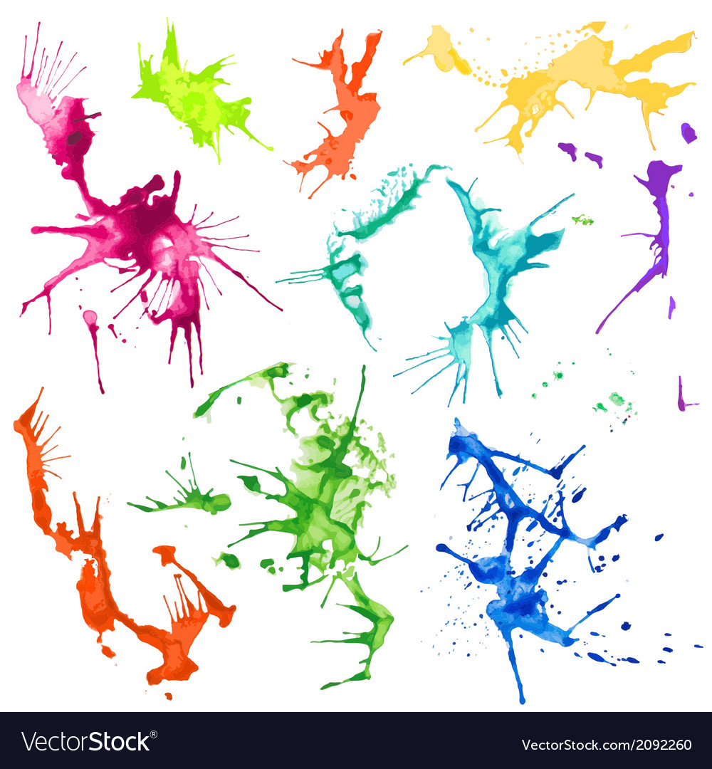 Water color splash stains vector | Price: 1 Credit (USD $1)