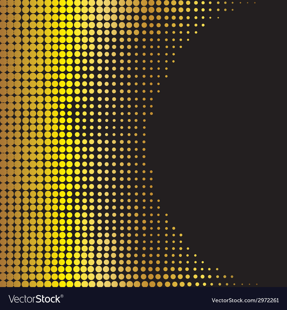 Abstract golden halftone background vector | Price: 1 Credit (USD $1)