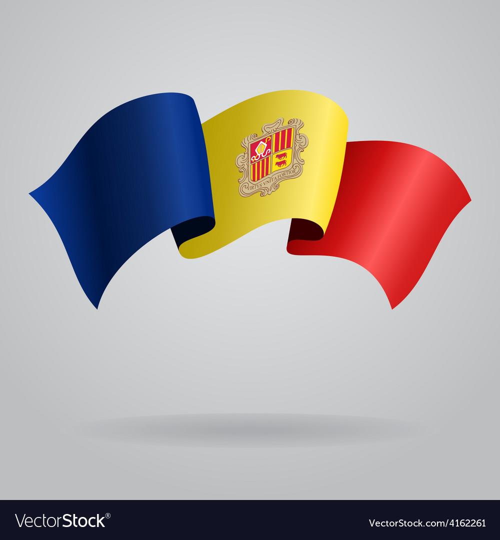 Andorran waving flag vector | Price: 3 Credit (USD $3)