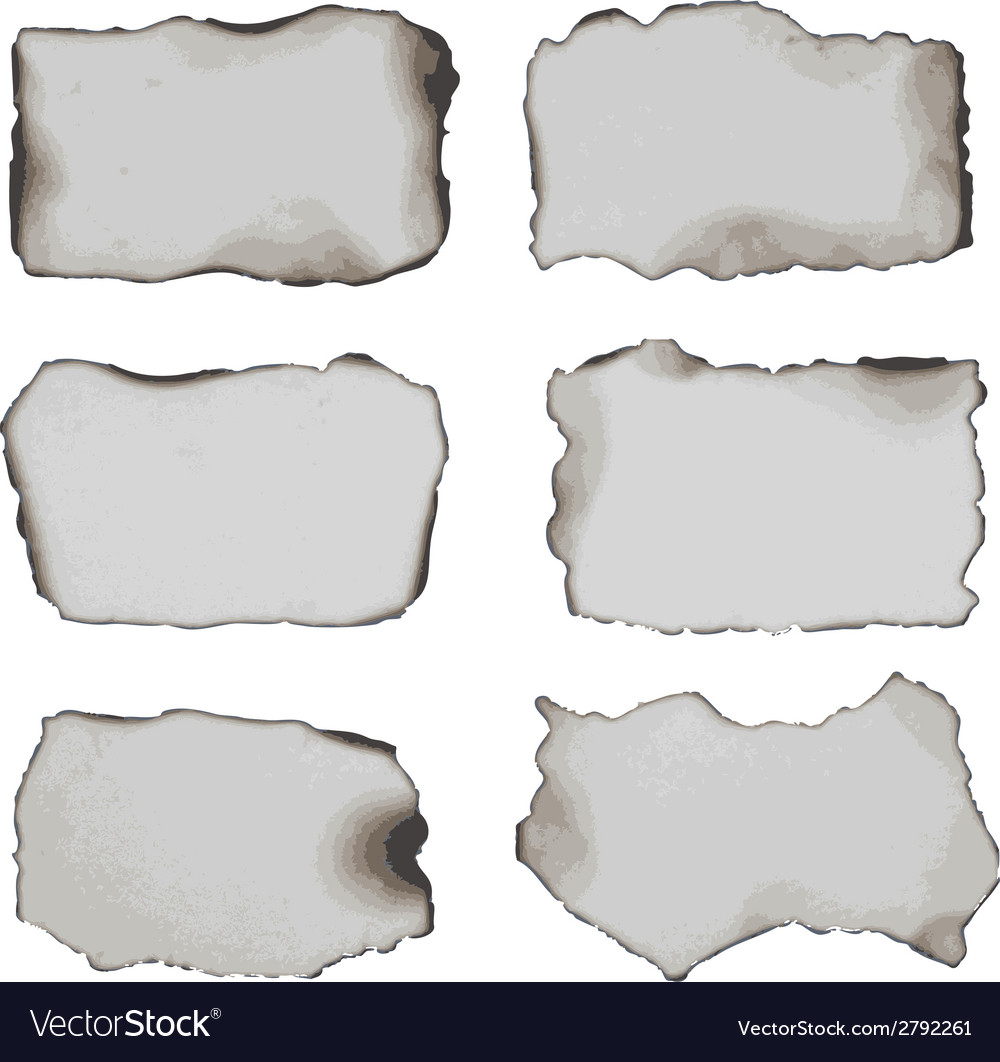 Burnt papers vector | Price: 1 Credit (USD $1)