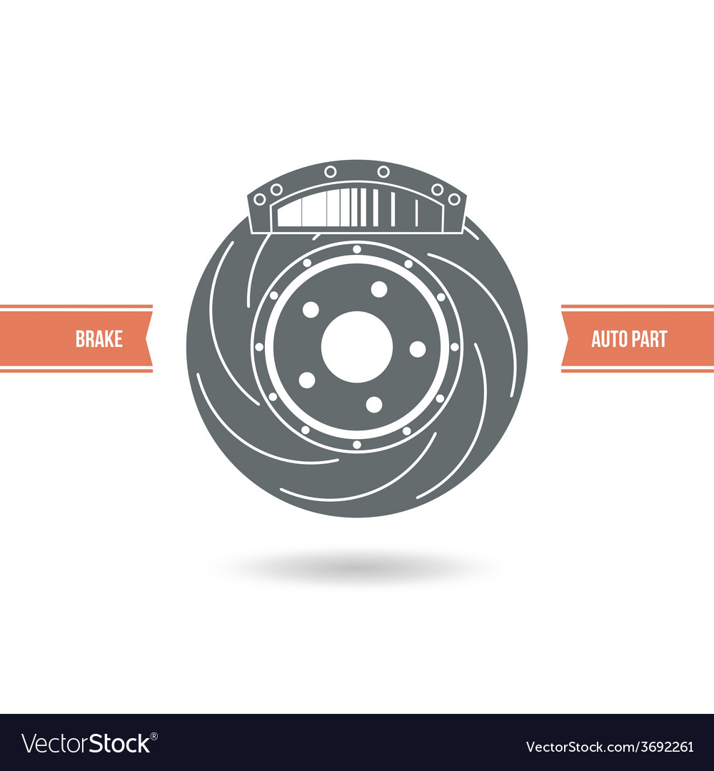 Car brake pads and discs icon vector | Price: 1 Credit (USD $1)