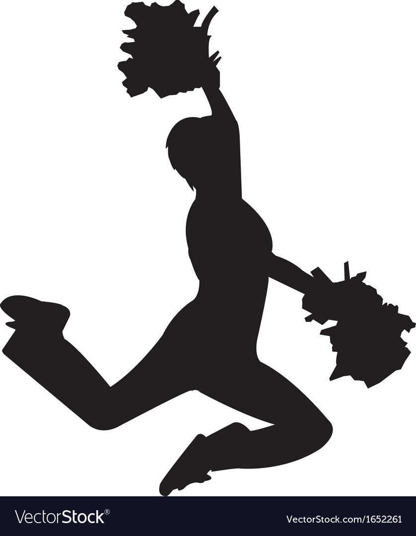 Cheerleader silhouette vector   Price: 1 Credit (USD $1)