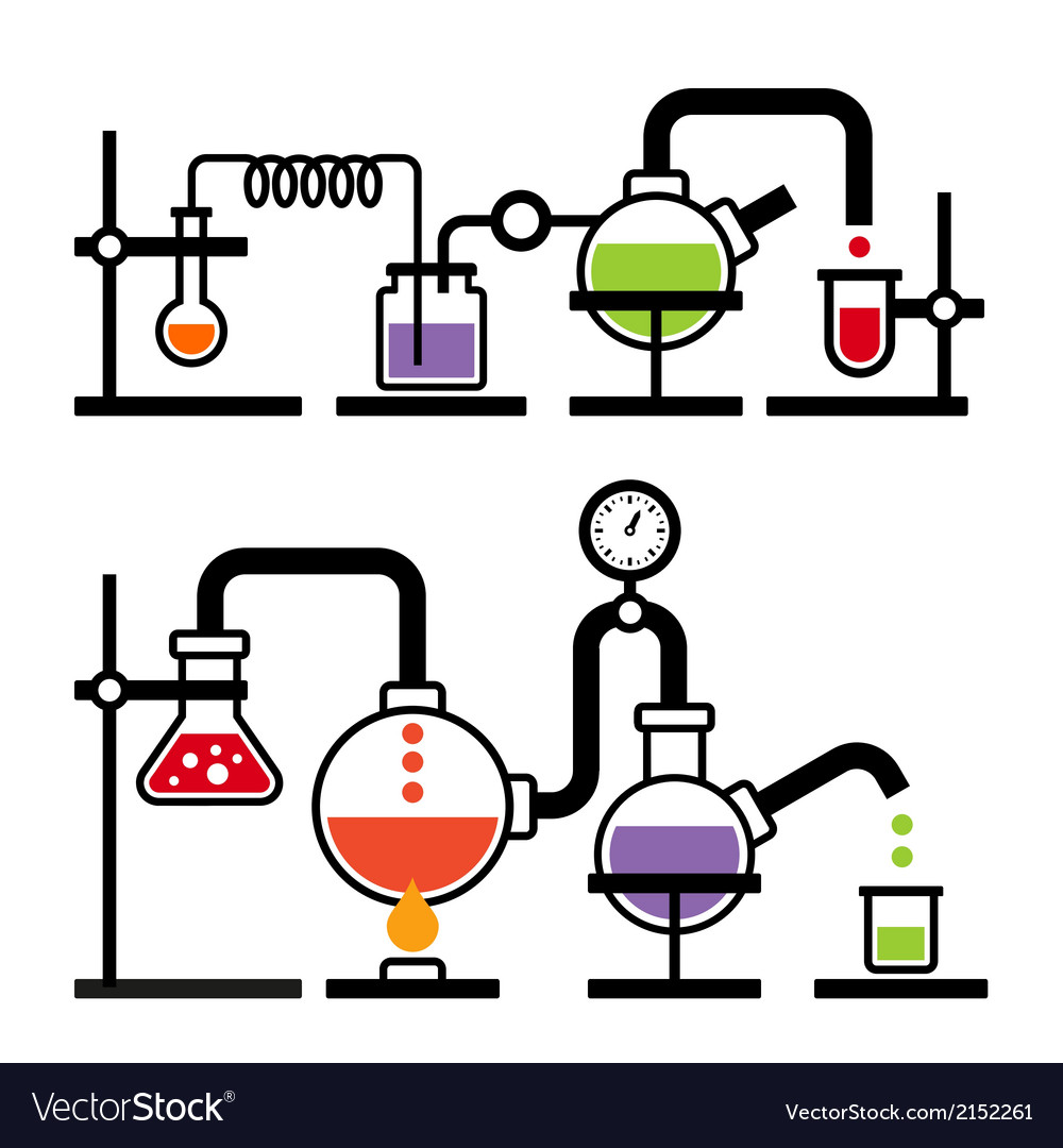 Chemistry laboratory infographic vector | Price: 1 Credit (USD $1)