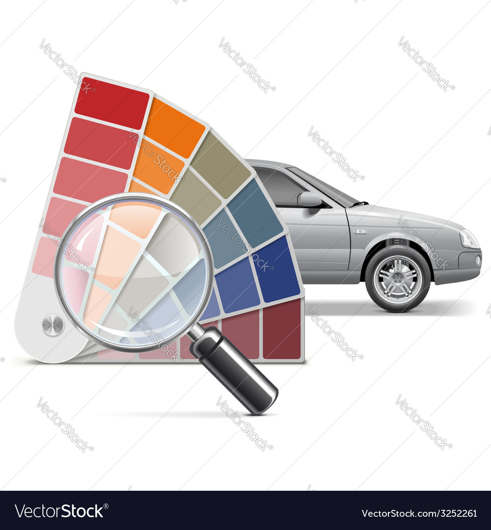 Color choice for car vector | Price: 1 Credit (USD $1)