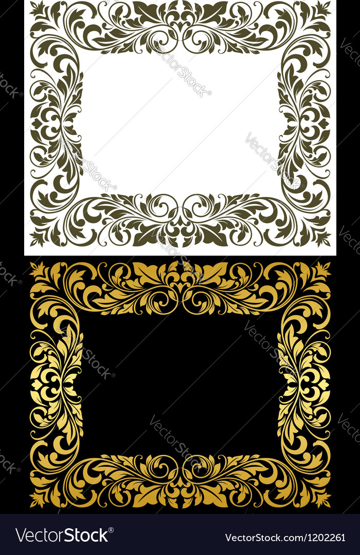 Elegance frame in floral style vector | Price: 1 Credit (USD $1)