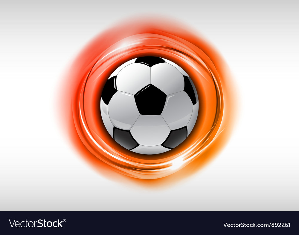 Football abstract circle on white orange vector | Price: 3 Credit (USD $3)