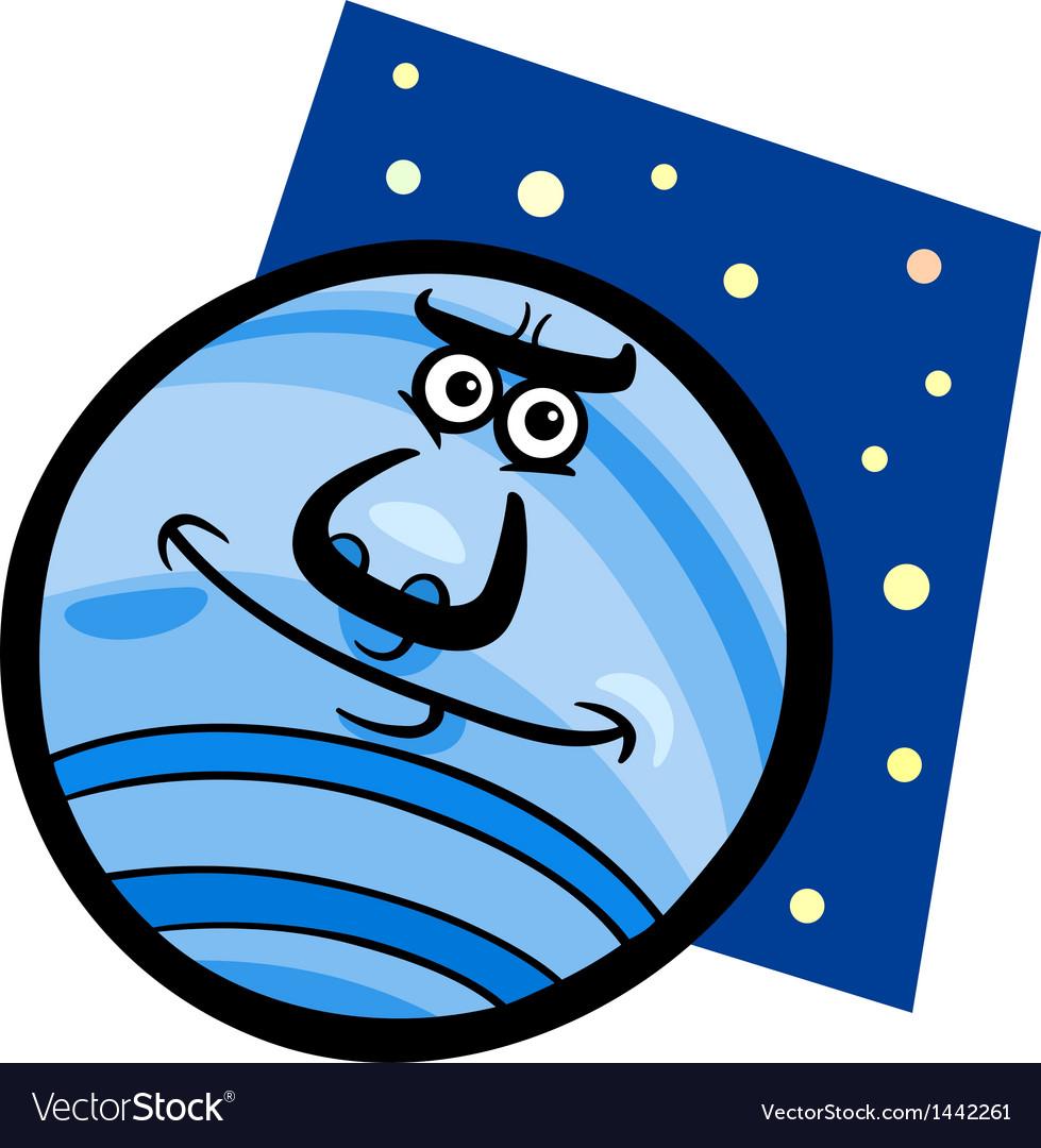 Funny neptune planet cartoon vector   Price: 1 Credit (USD $1)