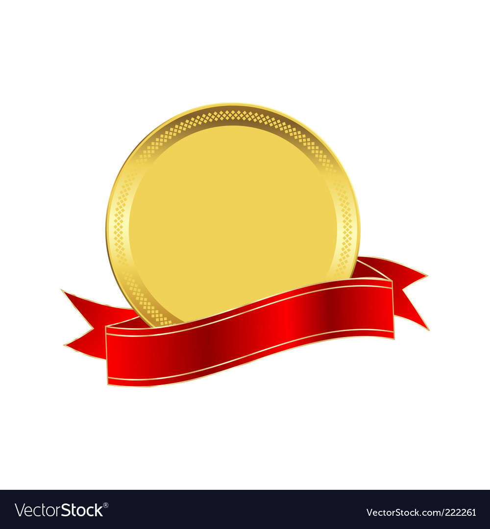 Golden seal vector