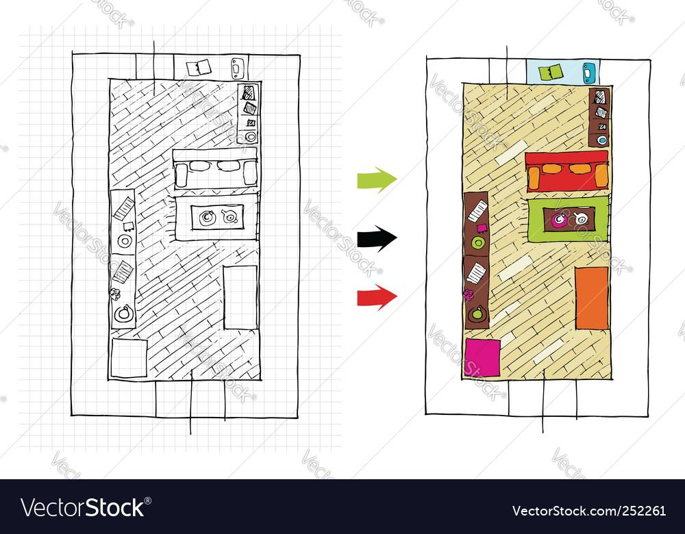 Interior design apartments vector   Price: 1 Credit (USD $1)