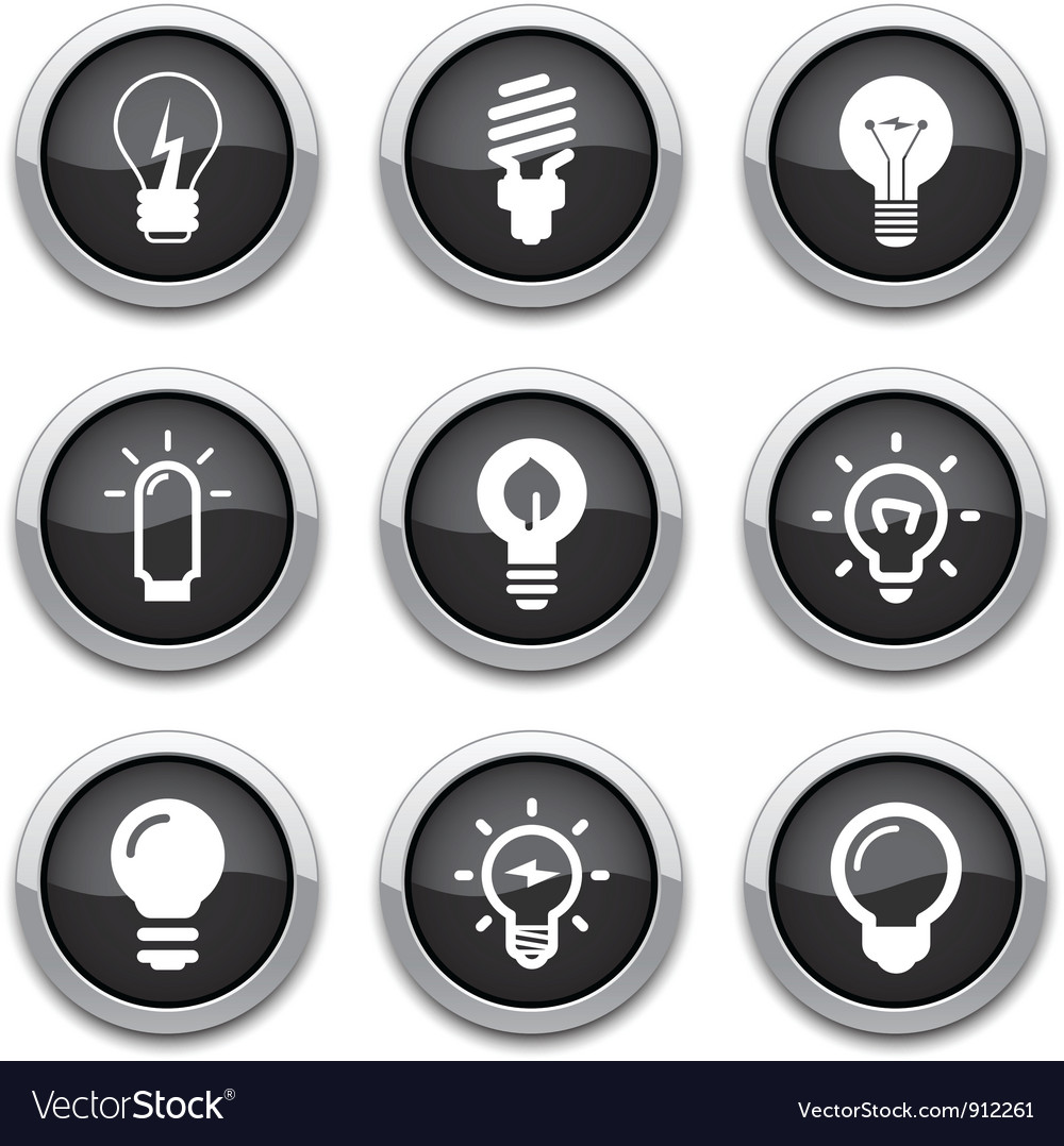 Light bulb buttons vector | Price: 1 Credit (USD $1)