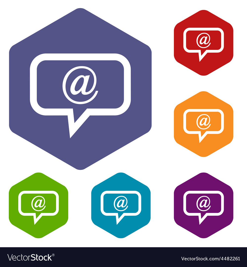 Mail rhombus icons vector | Price: 1 Credit (USD $1)