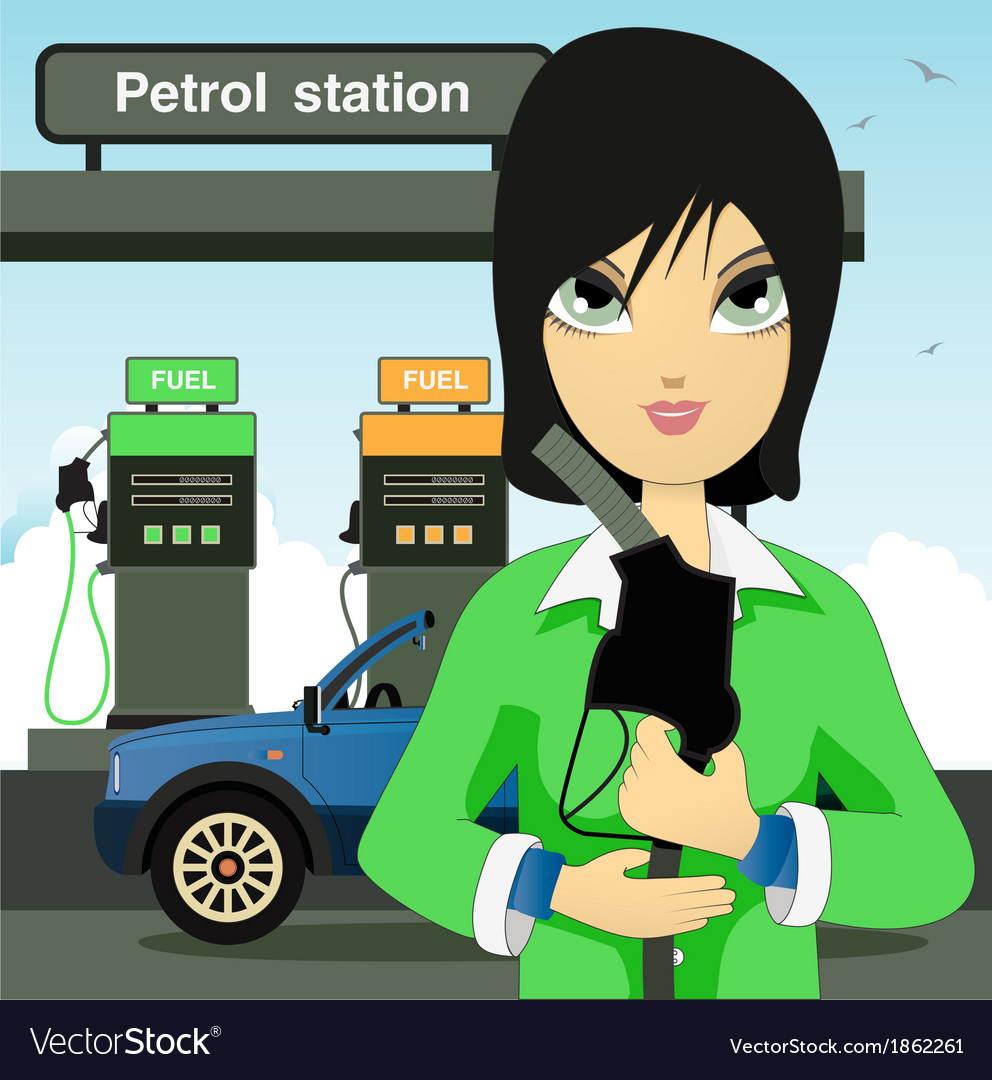 Petrol station vector | Price: 1 Credit (USD $1)
