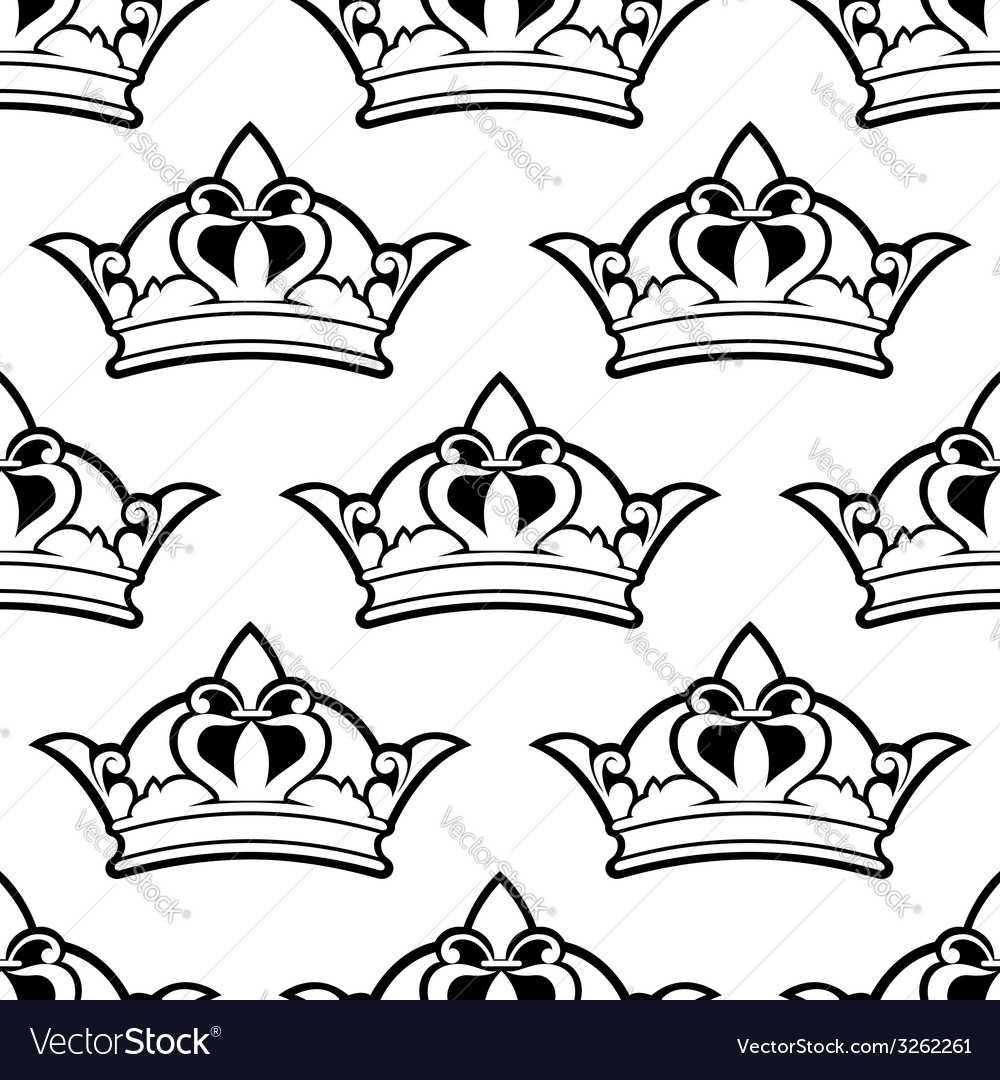 Royal crown seamless pattern vector | Price: 1 Credit (USD $1)