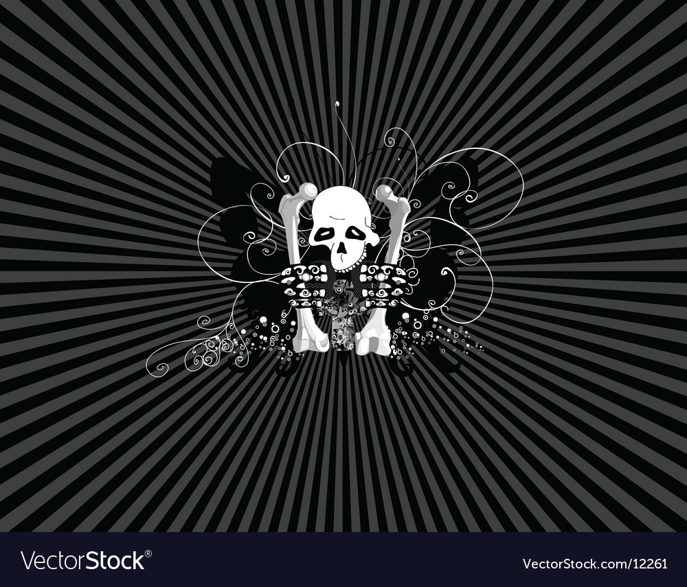 Skulls wallpaper vector | Price: 1 Credit (USD $1)