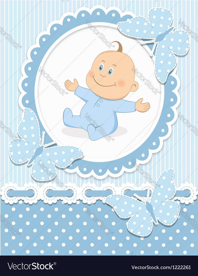 Smiling baby boy vector | Price: 3 Credit (USD $3)