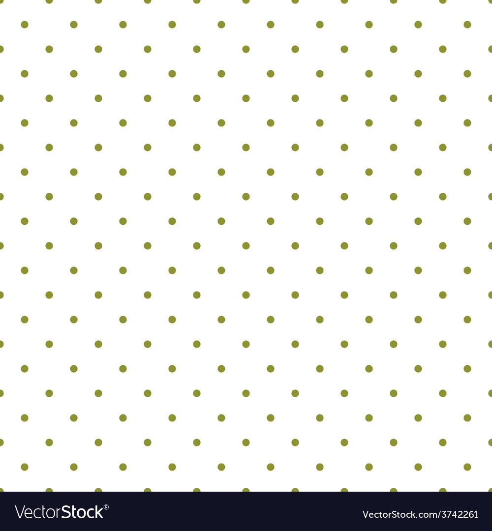 Tile pattern green polka dots white background vector | Price: 1 Credit (USD $1)