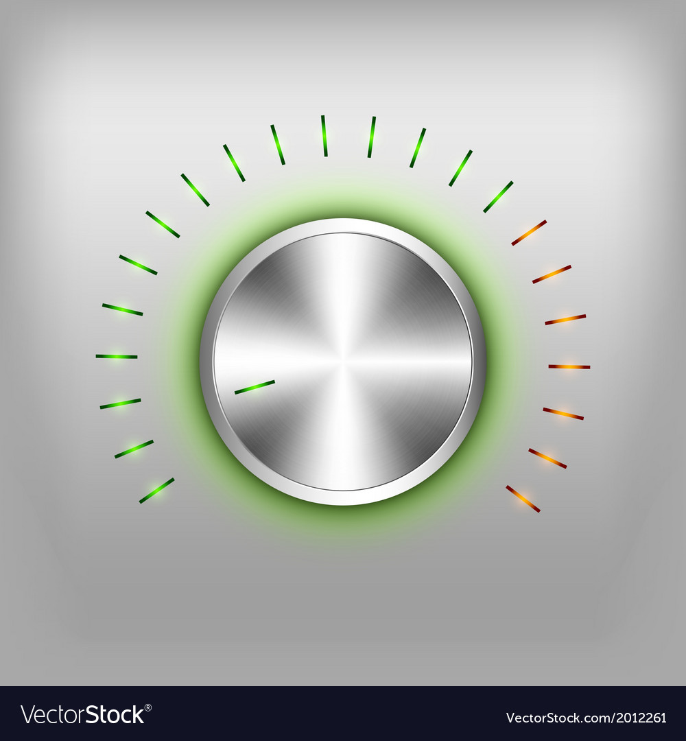 Volume button neon green vector | Price: 1 Credit (USD $1)