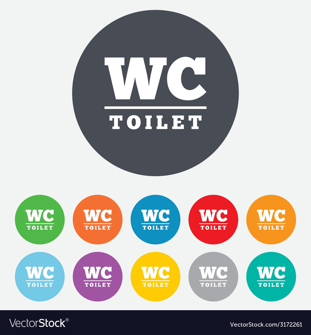 Wc toilet sign icon restroom symbol vector | Price: 1 Credit (USD $1)