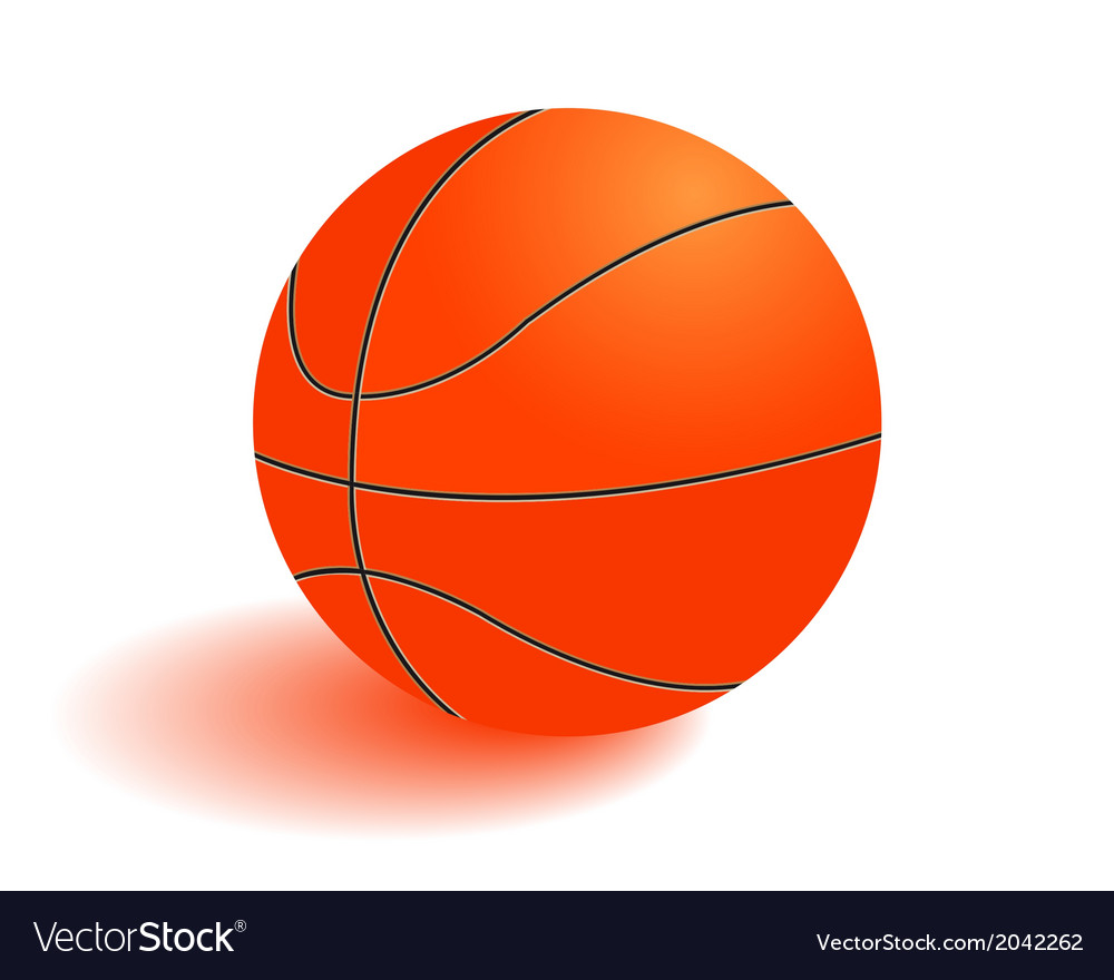 Ball for playing basketball vector | Price: 1 Credit (USD $1)