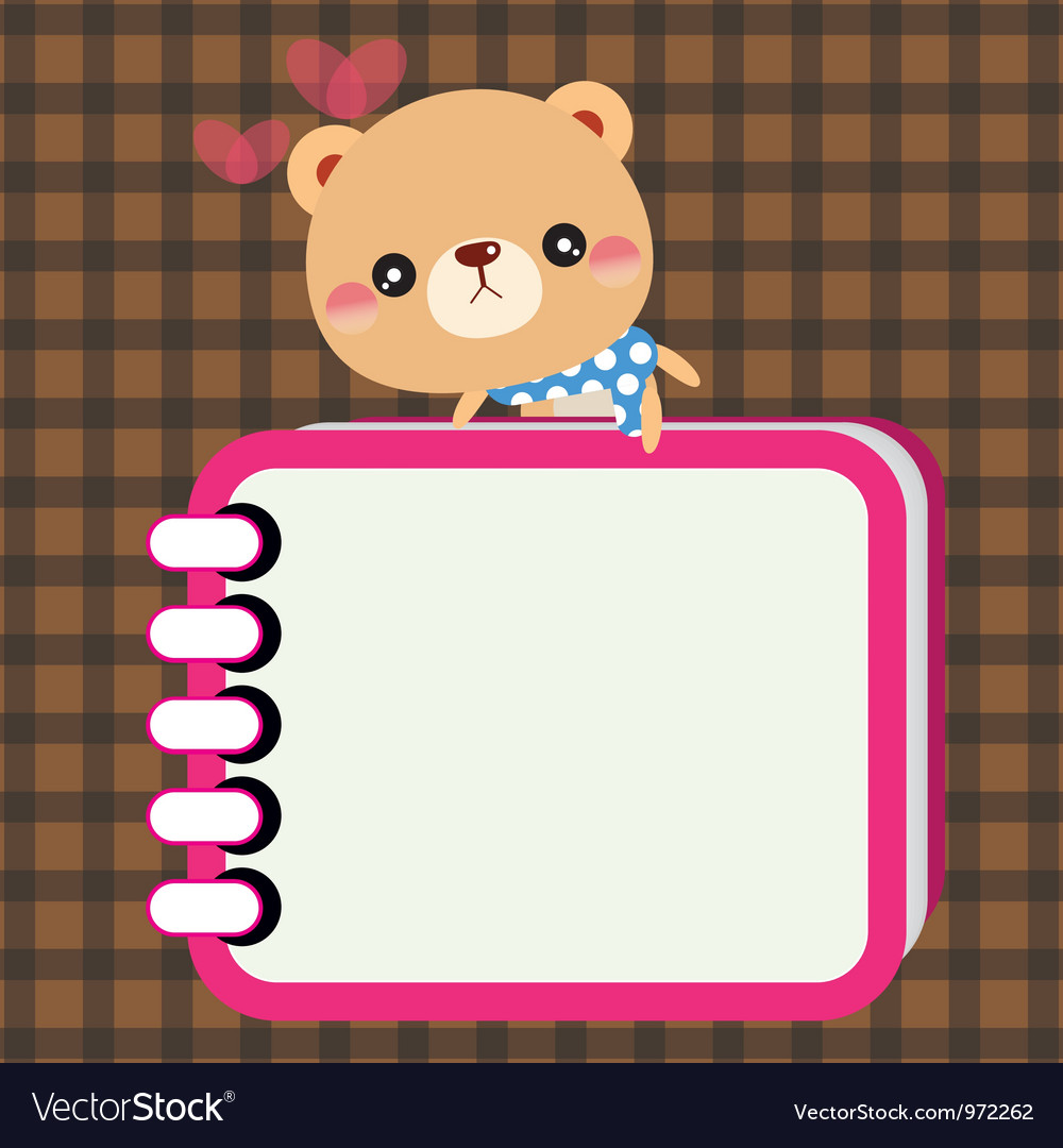 Bear with notebook vector | Price: 1 Credit (USD $1)