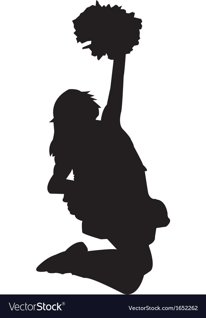 Cheerleader silhouette vector | Price: 1 Credit (USD $1)