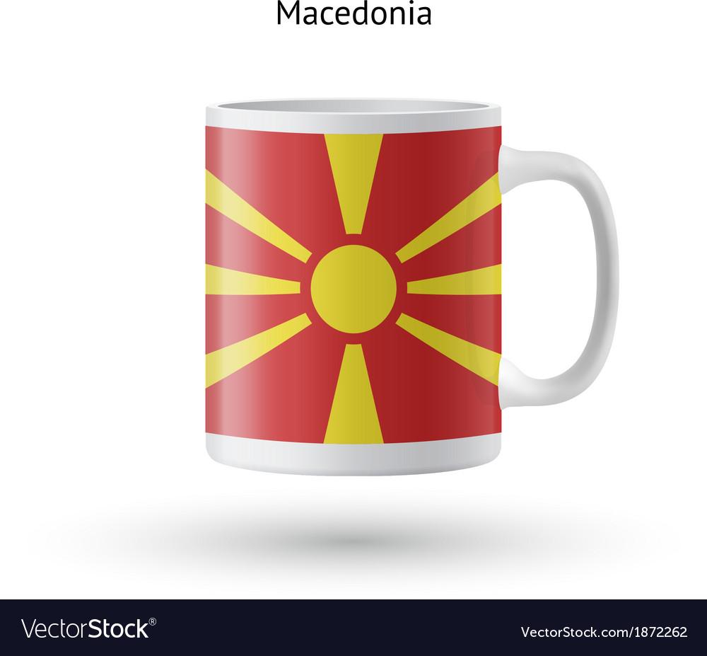 Macedonia flag souvenir mug on white background vector   Price: 1 Credit (USD $1)