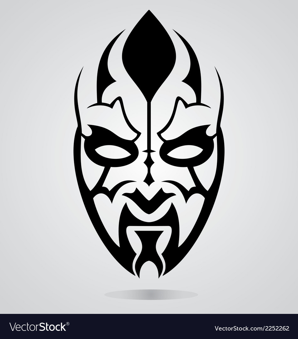 Mask tattoo design vector | Price: 1 Credit (USD $1)