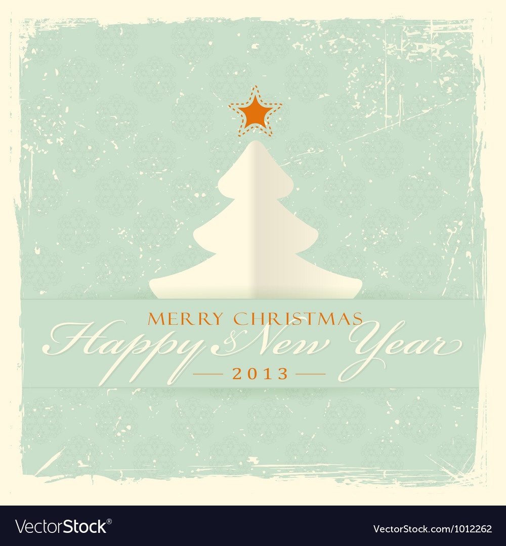 Merry christmas and a happy new year vector | Price: 1 Credit (USD $1)